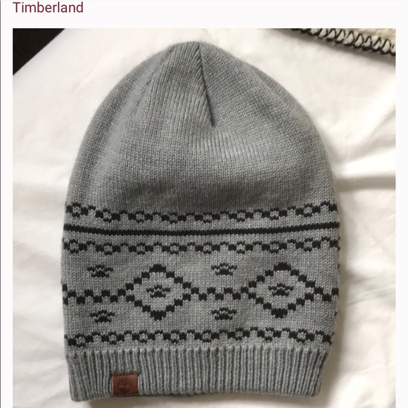 9eebb05e320f9 Timberland Accessories | Grey Black Winter Hat | Poshmark